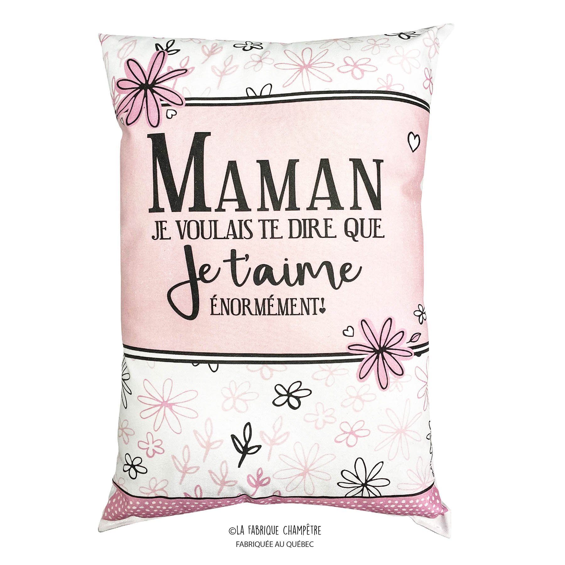 Cushion With Text Maman Enormement Boutique Kozy