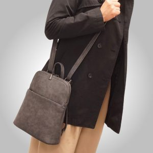 Convertible backpack charcoal, black, or tan | Boutique Kozy