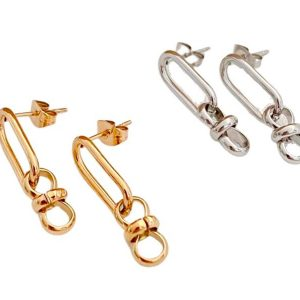 Earring link with joined pendent